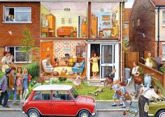 Memory Lane 1000 piece jigsaw puzzle by Steve Noon from Gibsons puzzles. This is the second of two nostalgia puzzles by Steve Noon in th. 2000 Piece Puzzle, Puzzle Pieces, Norman Rockwell, Free Online Jigsaw Puzzles, 1000 Piece Jigsaw Puzzles, Puzzle Online, Picasso, Nostalgic Art, Cartoon Art Styles
