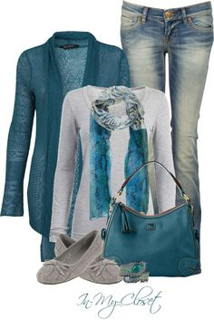 """Teal Tuesday"" by in-my-closet on Polyvore FAVORITE COLOUR HAVE TO GET THIS ENTIRE OUTFIT ! It's a done deal."