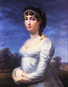 1806-1807 Princess Augusta of Bavaria, Duchess of Leuchtenberg by Andrea Appiani (location unknown to gogm) | Grand Ladies | gogm