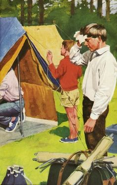 Pitching up tents - Peter & Jane