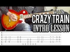 Ozzy Osbourne - Crazy Train Intro Guitar Lesson (With Tabs) - YouTube