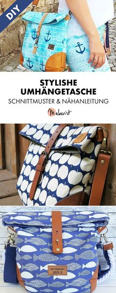 Shoulder bag for all occasions - sewing instructions and .- Umhängetasche für alle Gelegenheiten – Nähanleitung und Schnittmuster via Mak… Shoulder bag for all occasions – sewing instructions and patterns via Makerist. Diy Sewing Projects, Sewing Projects For Beginners, Knitting For Beginners, Sewing Hacks, Sewing Tutorials, Sewing Tips, Ideias Diy, Leftover Fabric, Love Sewing