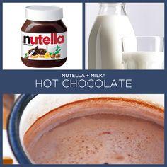 Nutella + leite = chocolate quente