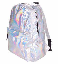 2016 новый кожаный рюкзак горячая распродажа мода голограмма рюкзак для школьника женщин лазерная серебристый голографическая мешок купить на AliExpress