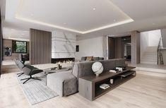 Munich_Penthouse on Behance Luxury Living Room, Modern House Design, Modern Living Room Interior, Modern Interior Design, Interior Design Living Room, Home Interior Design, Interior Design, Interior Deco, Living Room Designs