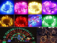2M 20 LEDS Silver Copper Wire LED Fairy Starry Wire String Light Battery Powered #Unbranded