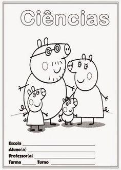 Pedagógiccos: Capas para caderno - tema Peppa Pig