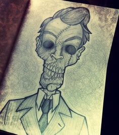 #zombie by rich of UME toys #illustration #pen