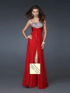 Red bridesmaids/maid of honor dress