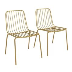 Hashtag Home Bourquin Wire Dining Chair Color: Gold Wire Dining Chairs, Mismatched Dining Chairs, Upholstered Dining Chairs, Dining Chair Set, Dining Room Chairs, Metal Chairs, Rattan Chairs, Desk Chairs, Chair Cushions