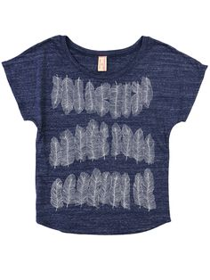 Supermaggie Feather Tee (available in charcoal)