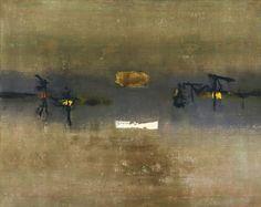 "The MoMA's V.S. Gaitonde - 1962. Oil on canvas, 40 x 49 7/8"" (101.6 x 126.6 cm). Gift of Mrs. Joseph James Akston"
