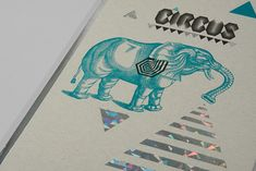 menu design for Circus, a club with a burlesque theme and changing performances