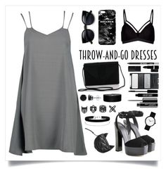 """""""Throw-on-Dress,"""" by weirdoliciouse ❤ liked on Polyvore featuring Giuseppe Zanotti, Lipsy, Boohoo, Mr. Gugu & Miss Go, Miss Selfridge, Topshop, BERRICLE, MAC Cosmetics, Lord & Berry and Hard Candy"""