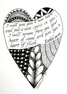 I will give you a new heart...Ezekiel 36:26 from ConnieCoxStudio.etsy.com