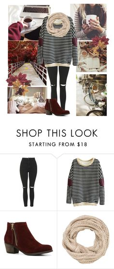 """""""Leaves are falling"""" by genesis129 ❤ liked on Polyvore featuring Topshop, ALDO, maurices, Fall, sweaterweather and falloutfit"""