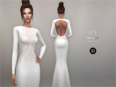 Wedding dress - Katya for The Sims 4 by BEO Wedding dress - Katya for The Sims 4 by BEO Wedding Dress Inspiration - Elihav Sasson Sims 4 Cc Skin, Sims 4 Mm Cc, Sims 3, Sims 4 Wedding Dress, Weeding Dress, Sims 4 Cc Kids Clothing, Sims 4 Mods Clothes, Los Sims 4 Mods, Vetements Clothing