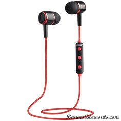 Naxa Bluetooth Isolation Earbuds With Microphone & Remote (red)