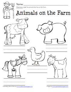 Farm Animal Labeling Page