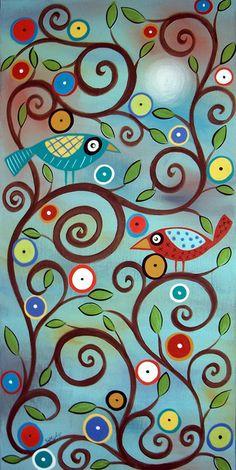 Branch Birds by karlagerard, via Flickr