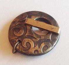 Antique Gold Polymer Clay Toggle by TerrisBloomingIdeas on Etsy Jewelry Making Tutorials, Bead Art, Antique Gold, Polymer Clay, Beads, Antiques, Unique Jewelry, Handmade Gifts, Crafts