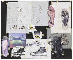 Air Jordan 11 Hatfield sketches.