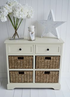 Cambridge cream sideboard with storage, from The White Lighthouse Furniture.co.uk