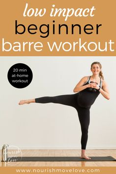 Low Impact Beginner Barre Workout | www.nourishmovelove.com