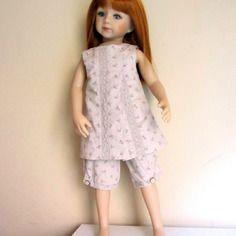Habit de poupée : tunique longue sans manches et pantalon, compatible poupées journey girls