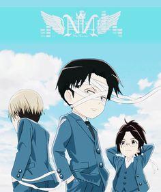 Mike, Levi, Hanji, gif; Attack on Titan: Junior High