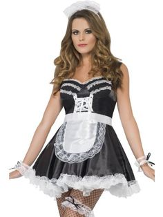Ladies Sexy French Maid Servant Wench Costume Accessory Kit Fancy Dress Outfit: Amazon.co.uk: Toys & Games
