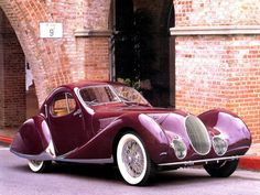 Talbot Lago T150C Figoni et Falaschi 1938   ===>  de.pinterest.com/...
