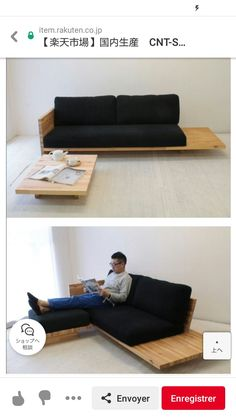 Diy Couch, Diy Furniture Couch, Plywood Furniture, Home Decor Furniture, Pallet Furniture, Living Room Furniture, Furniture Design, Wooden Sofa Set Designs, Wooden Couch