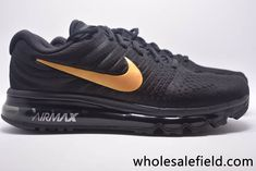 Original New Coming Nike Air Max 2017 Mesh Black Gold - Top Quality Hot Sale - Original New Coming Nike Air Max 2017 Mesh Black Gold Women Men Shoes Limited Nike Air Max Black, Air Max Sneakers, Sneakers Nike, New Coming, Discount Nikes, Black Gold, Mesh, God, The Originals