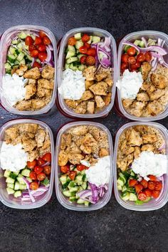 Greek Chicken Bowls - prep ahead meals