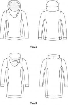 Jasper Sweater/Dress Line Drawing