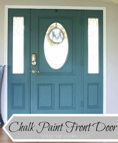 Unique Front Door Colors with Chalk Paint - Ask Anna