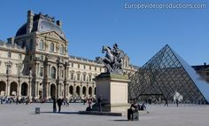 Louvre Museum in Paris in France