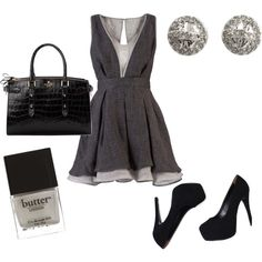 simple gray, created by #kac338 on #polyvore. #fashion #style Aspinal of London Marc by Marc Jacobs