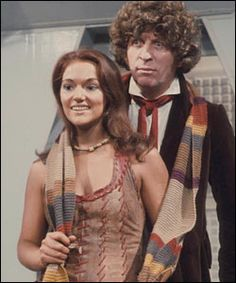 Louise Jameson with Tom Baker