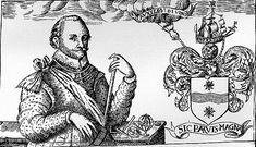 Sir Francis Drake And His Coat Of Arms. This Day in History: Sep 26, 1580: Drake circumnavigates the globe