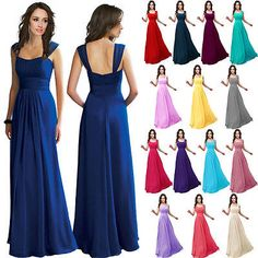 1 Wedding Bridesmaid  Elegant Party Cocktail  Evening Formal  Long Gown Dress