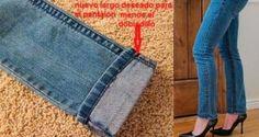 Una amiga me enseñó este truco de como acortar un pantalón y mantener el remate original sin tener que llevarlo al modista! Te ahorrara tiempo y dinero…