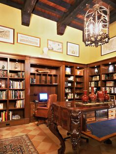 Mediterranean Home Office Design, Pictures, Remodel, Decor and Ideas
