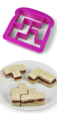 Tetris sandwich cutter! Classic #product_design