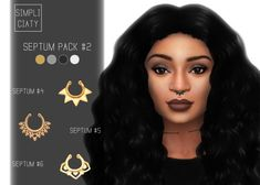 Sims 4 CCs - The Best: Septum Pack von Simpliciaty - - Sims 4 Cc Packs, Sims 4 Mm Cc, Sims 4 Piercings, Sims 4 Tattoos, Sims 4 City Living, Sims 4 Traits, Sims 4 Pets, Maxis, S Videos