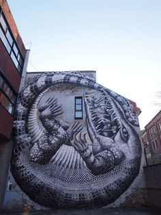 Phlegm Takes His Graffiti Mural to Big Scales at Oslo Art Festival #graffiti #streetart trendhunter.com