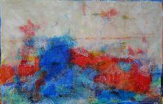 """""""o som da matraca""""2014 tinta acrílica sobre linho 100 x 150cm"""