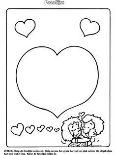 Liefde valentijnsdag - Fotolijst - Knutselpagina.nl - knutselen, knutselen en nog eens knutselen.