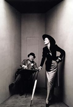Irving Penn, Early Corner Portrait, Carl Erickson and Elise Daniels, NY, 1947 for Vogue Magazine